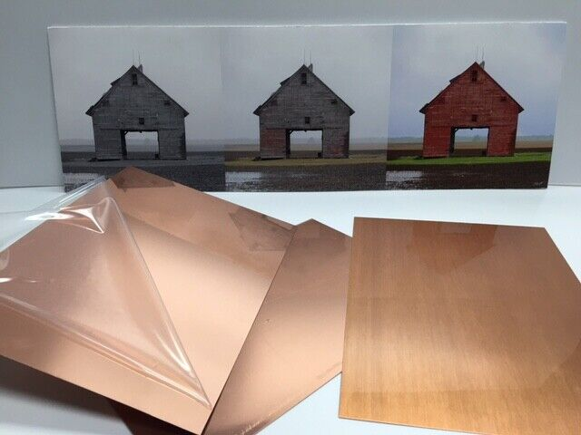 "Copper Sheet 16oz- 24 gauge Copper Sheet Bright Polished 13.75""x14"""