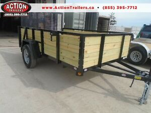 ULTIMATE HIGH SIDED UTILITY TRAILER 6X10' W/RAMP GATE