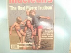 Signed Justin and Pierre Trudeau mag. cover + more collectibles