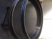 Vintage 60's sonor bass drum teardrop tear drop 20'' hoops , good for restoration project