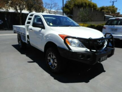 2013 Mazda BT-50 XT (4x4) White 6 Speed Manual Cab Chassis