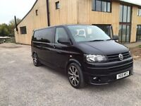 2010 VW TRANSPORTER T5 LWB COMBI VAN IN BLACK WITH TAILGATE - FITTED INTERIOR - £12,995 + VAT