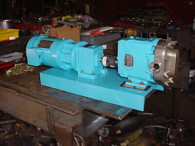 1 Inch Waukesha Stainless Steel Positive Displacement Pump Model 015 Tri-clamp