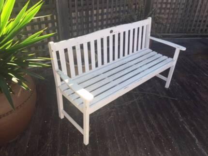 Timber outdoor garden bench seat. Jackeroo Aspley Brisbane North East Preview