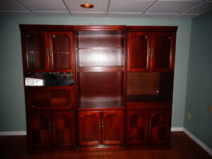 3 piece solid wood Entertainment/ Wall unit
