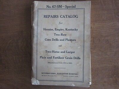 Mccormick Deering Hoosier Empire Kentucky Grain Drill Corn Planter Parts Manual