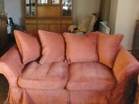 3 SEATER SOFA AND ARM CHAIR LOOSE COVERS RED