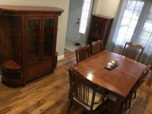 SOLID CHERRY MISSION STYLE DINING ROOM SET