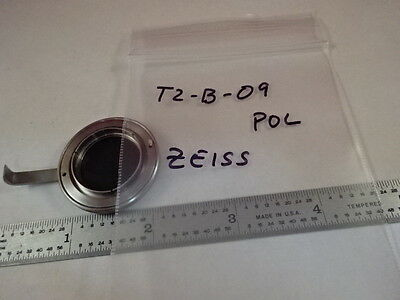 Microscope Part Zeiss Germany Polarizer Lens Pol Optics As Is T2-b-09