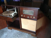 1940 mid century Old radio record Cabinet Console tubes Philips