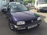 Cheap car of the day Volkswagen Golf, starts and drives, MOT until 1st August, car located in Graves