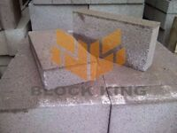 One pack of (72 / 7.2m2) 100mm solid concrete blocks