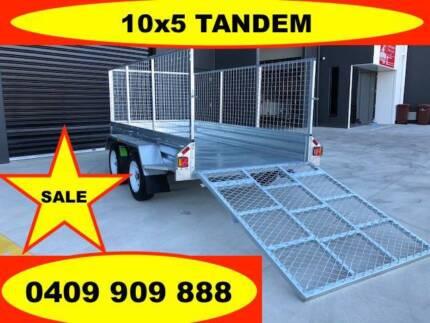 10x5 RAMP TANDEM HOT DIP GALVANISED TRAILER,2000 KG ATM