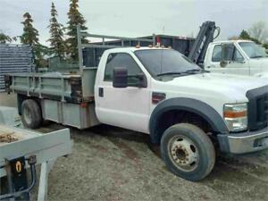 2008 Ford F-550 XL - 12 Ft Flat Bed - Power Stroke Diesel