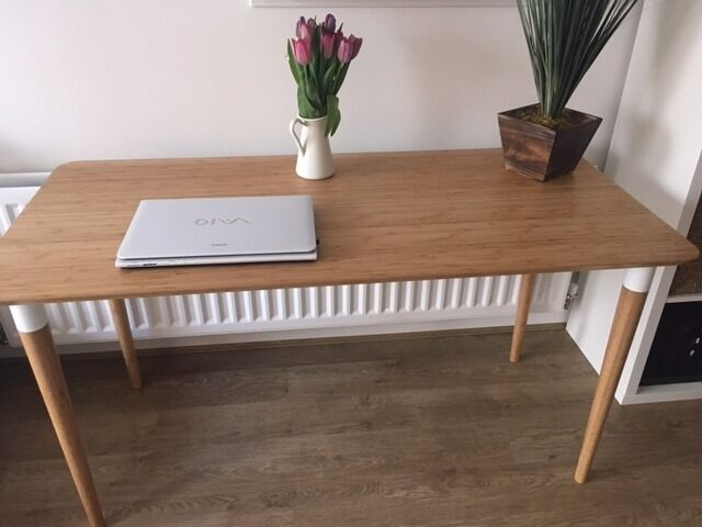 Ikea hilver bamboo office desk in tonbridge kent gumtree
