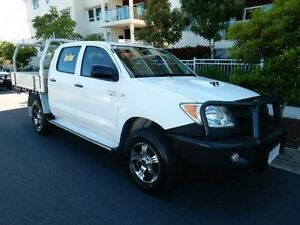 2007 Toyota Hilux KUN26R MY08 SR White 5 Speed Manual Cab Chassis Redcliffe Redcliffe Area Preview