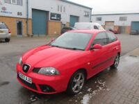seat ibiza 1.4 petrol 2007 07,plate 1 years mot very good condition/runner £1495 all px,s welcome