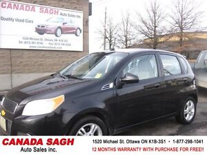 2010 Chevrolet Aveo LT, AUTO, ROOF, 97km, 12M.WRTY+SAFETY $6100