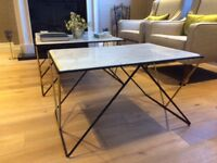 Marble topped side/coffee table