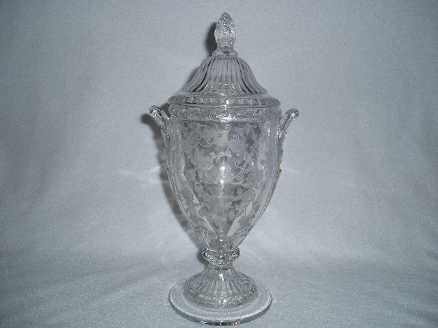 Cambridge Glass Elaine Covered Urn