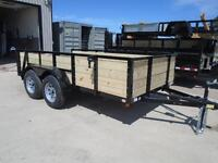 2015 NEW 12' TANDEM AXLE UTILITY/LANDSCAPE TRAILER - $2894 - WOW