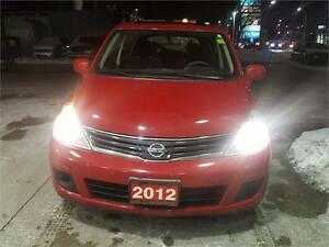 2012 NISSAN VERSA HB RED AUTO WITH 88000KMS..CLEAN CCARPROOF