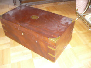 Antique Portable Campaign Writing Desk - REDUCED