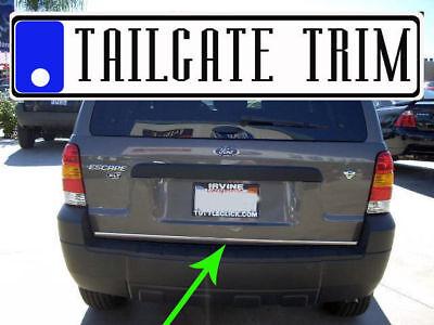 Ford ESCAPE 01 02 03 04 05 06 2007 2008-2012 Chrome Tailgate Trunk Trim Molding 01 02 03 Trim