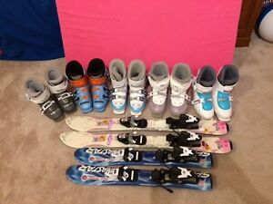 Skis and boots - Junior Sizes