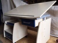 Desk Office / student drawing board / desk with matching pedestal
