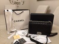 Chanel leboy bag. Genuine black lambskin leather.