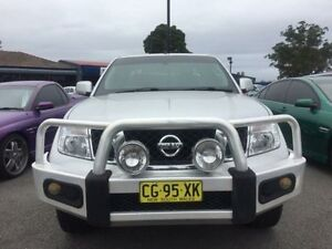 2012 Nissan Navara D40 S6 ST Silver 5 Speed Sports Automatic Utility Sandgate Newcastle Area Preview