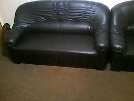 1,2 and 3 seater black sofas £100 ono