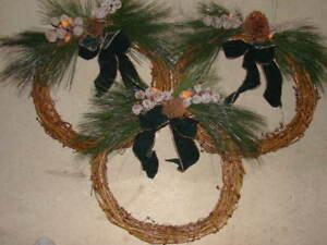 Grapevine Christmas Wreathes (Six)