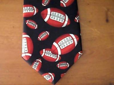 UMO Lorenzo Collection FOOTBALL Black Mens NECKTIE  1997