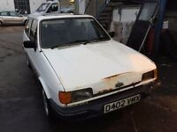 Classic car 1986 Ford Fiesta mark 2, starts and drives well, car located in Gravesend Kent, no MOT,