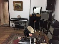 Rehearsal/Recording Music Studio in Finsbury Park full back line, storage included, rates from £6ph