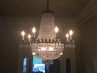 Chandelier large crystal waterfall 800x800