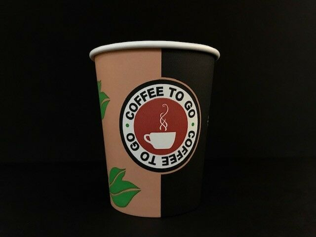 1000 Coffee TO GO Becher 200ml Kaffeebecher Papbecher Coffeebecher 0,2l
