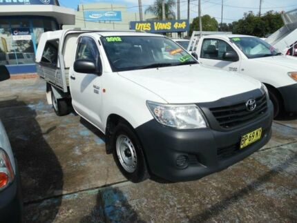 2012 Toyota Hilux TGN16R MY12 Workmate White 5 Speed Manual Cab Chassis Homebush West Strathfield Area Preview
