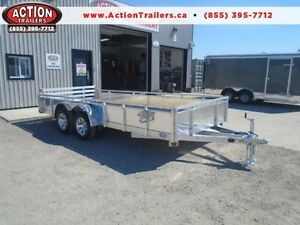 DELUXE ALUMINUM SOLID SIDE 16' TRAILER MORE FEATURES FOR LESS London Ontario image 1