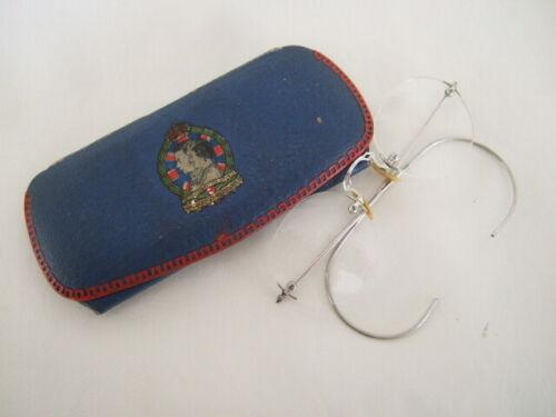 George VI Coronation souvenir spectacle case plus wireless spectacles eyeglasses