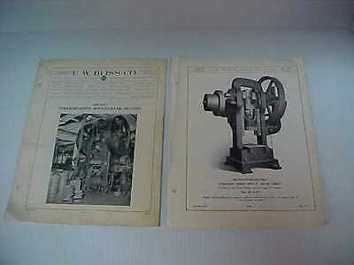 Vintage Industrial Press Manual Bliss 1928