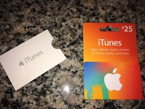 BRAND NEW $25 iTunes Gift Card - Delivered