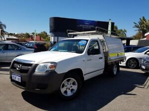 2007 Mazda BT-50 B2500 DX White 5 Speed Manual Cab Chassis
