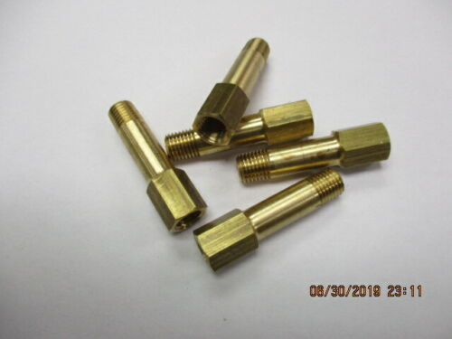 """(5) 1/16"""" NPT Male to  Female pipe 1-1/2"""" long 3/8"""" hex end. New!"""