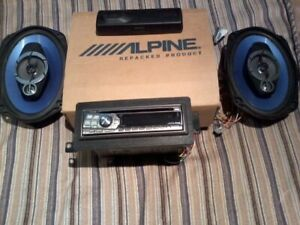 RADIO D'AUTO ALPINE+DEUX SPEAKERS PIONEER 40WATTS