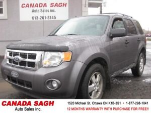 2012 Ford Escape XLT, CRUISE, 12 M WRTY+SAFETY ONLY $7990