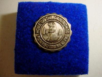 """Vintage Ground Hog Lapel Pin/Hat Pin ~ """"Punxsutawney Phil"""" - Punxsutawney, PA"""