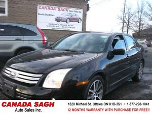2008 Ford Fusion V6, LOADED ROOF/ LTHR , 12M.WRTY+SAFETY $6490